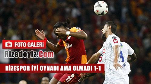 Galatasaray-Rize Maçı Fotoğrafları