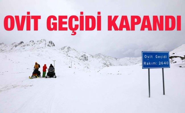 Doğu Karadeniz'de Kardan 57 Köy Yolu Kapandı
