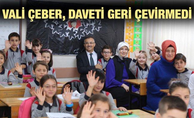 Vali Çeber'de Sürpriz Okul Ziyareti