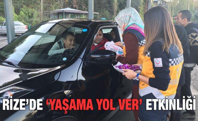 Rize'de Sürücülere Bilgilendirme Yapıldı