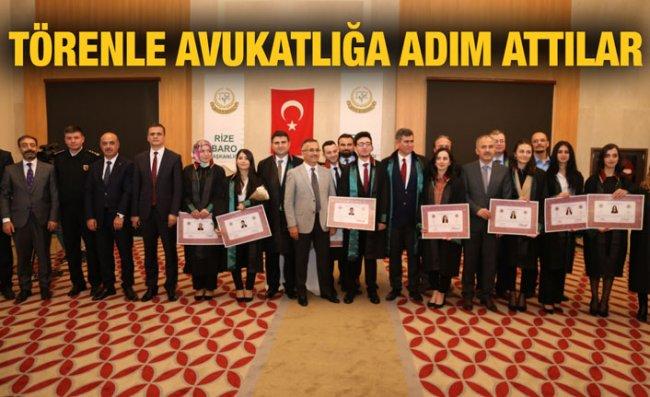 Yeni Avukatlar İçin Ruhsat Töreni Düzenlendi