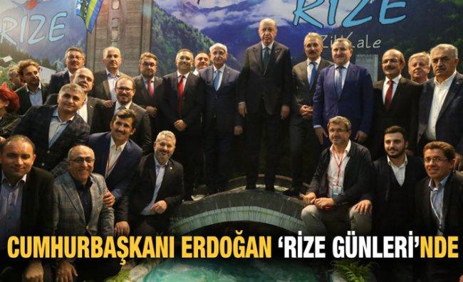 Erdoğan Rize Günlerine Katıldı, Stantları Gezdi