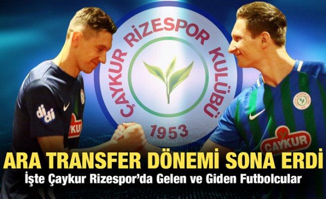Çaykur Rizespor Ara Transferde 7 Takviye Yaptı