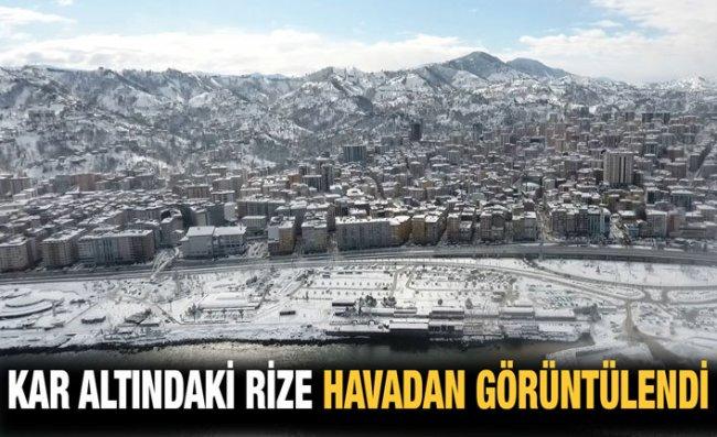 Rize'deki Eşsiz Kar Manzarası Drone ile Görüntülendi