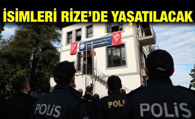 Rize'de Şehitlerin İsimleri Polis Merkezlerinde Yaşatılacak