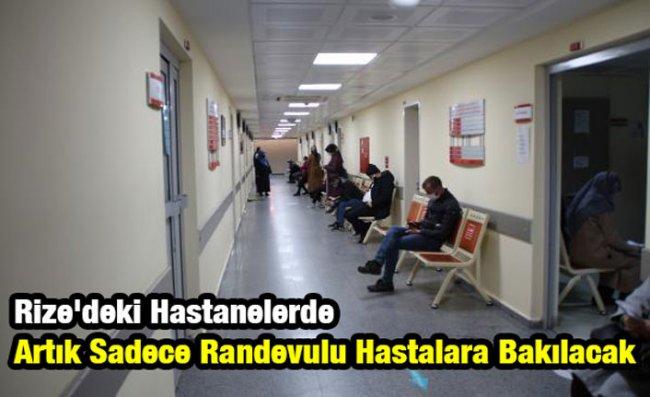 Rize'deki Hastaneler 'Randevu' Sistemine Geçti