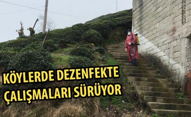 İl Özel İdaresi Köylerdeki Dezenfekte Çalışmalarını Sürdürüyor