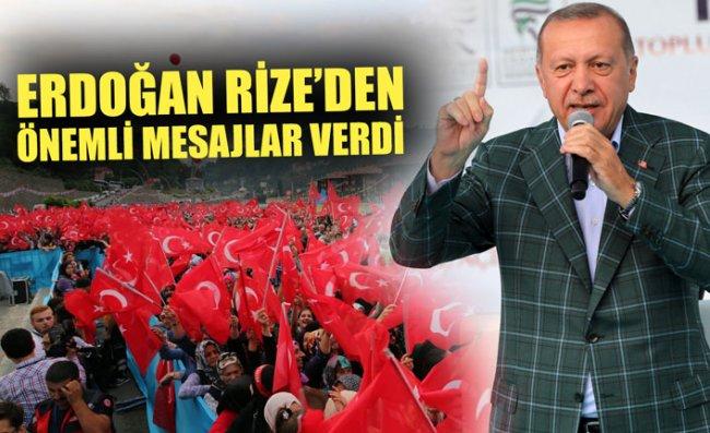 Erdoğan, Güneysu'da Hemşehrileri ile Buluştu