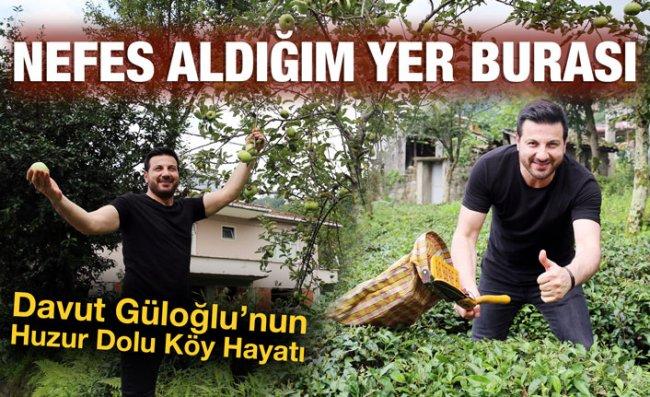 Davut Güloğlu, Köyünde Huzur Buluyor