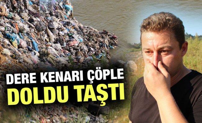 Dere Kenarına Çöp Dökülmesine Tepki Gösterildi