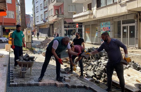 Fındıklı'da Cadde 'İmece' Usulü Yenilendi