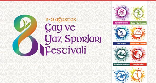 Çay Ve Yaz Sporları Rize'de Festivali Başlıyor