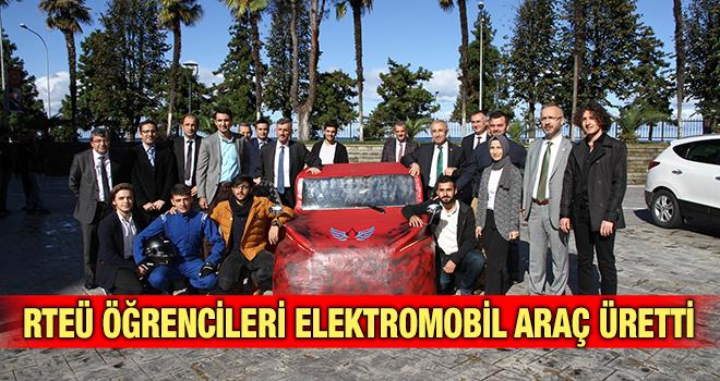 RTEܒde Elektronik Araç Ürettiler!