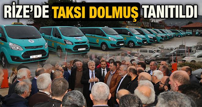 Rize'de Taksi Dolmuş Tanıtıldı