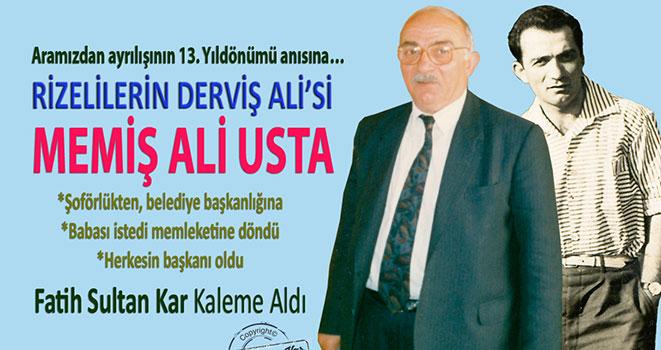 Rizelilerin Derviş Ali'si Memiş Ali Usta