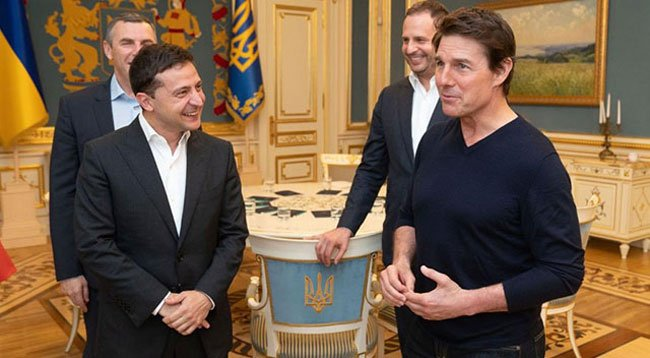 Zelenskiy, Tom Cruise'u Konuk Etti