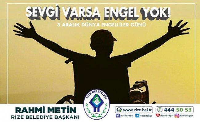 Başkan Metin'den Dünya Engelliler Günü Mesajı