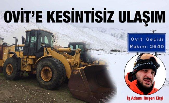 Ovit Dağı'na Artık Kesintisiz Ulaşılacak