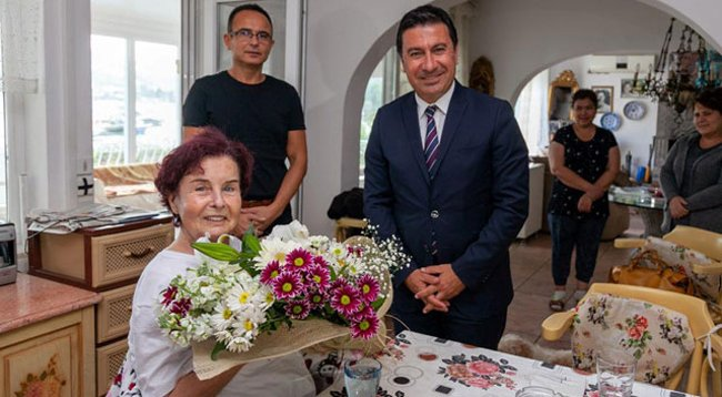 Başkan Aras'tan Fatma Girik'e Ziyaret