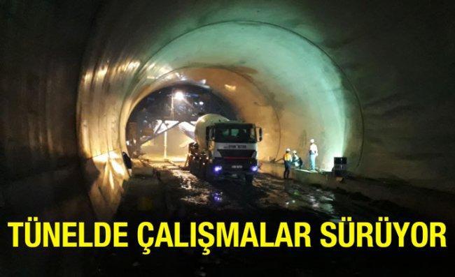 Salarha Tüneli'nde Çalışmalar Devam Ediyor