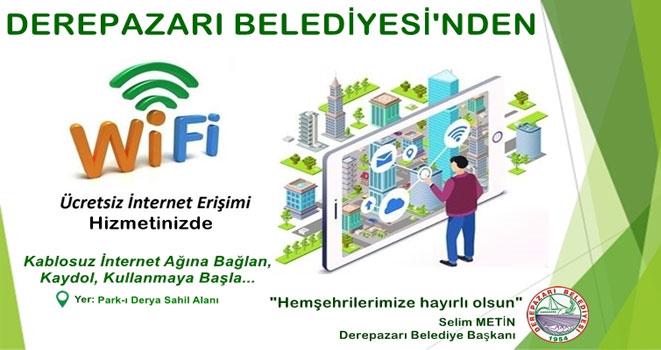 Derepazarı Belediyesi`nden Ücretsiz İnternet Hizmeti