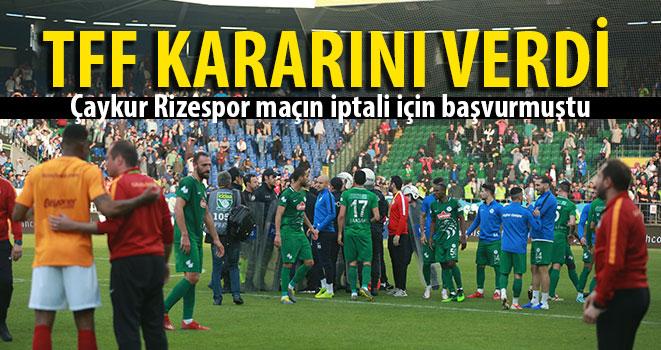 Galatasaray Maçının Tekrarı İçin Flaş Gelişme