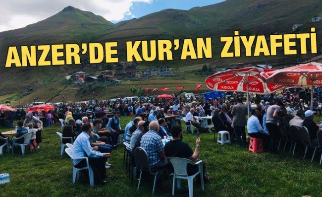 Anzer Yaylası'nda Kur'an Ziyafeti İlgi Gördü