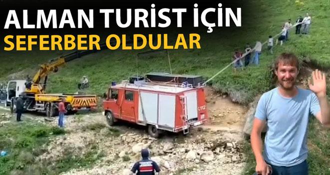 Alman Turistin Yardımına Yaylacılar Koştu