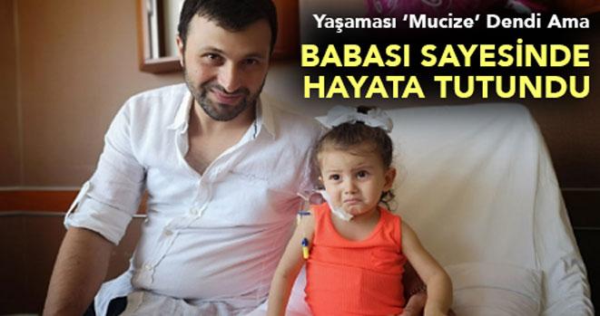 2 Yaşındaki Melisa`ya 32 Yaşındaki Babasından Böbrek