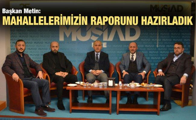 Başkan Metin, 'Müstakil Sohbetler'e Katıldı