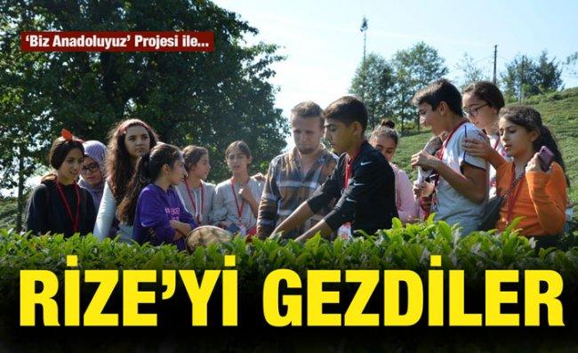 Elazığlı Öğrenciler Rize'yi Gezdi