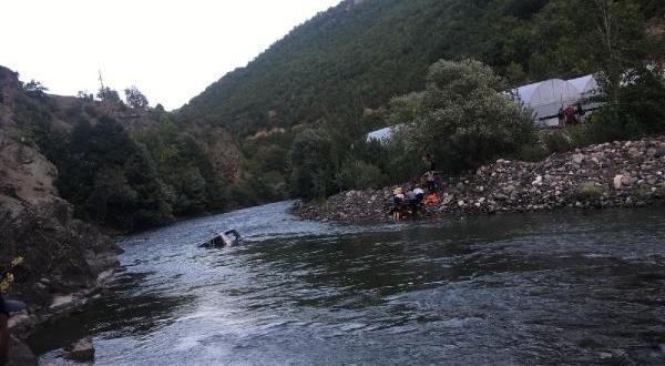 Rize plakalı araç nehre düştü: 1 ölü 3 yaralı
