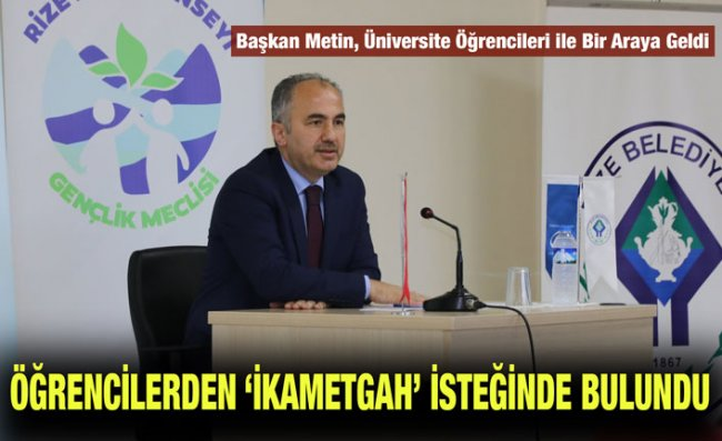 Başkan Metin, RTEÜ'de Söyleşi Yaptı