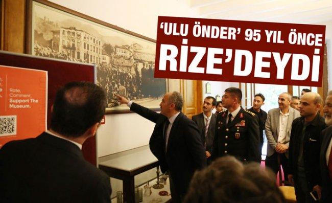 Atatürk'ün Rize'ye Gelişinin 95. Yıl Dönümü Törenle Kutlandı