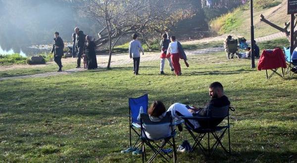 Tabiat Parkı'nda ara tatil yoğunluğu
