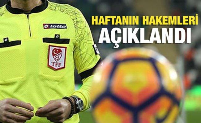 Süper Lig'de 5'inci Haftanın Hakemleri Belli Oldu