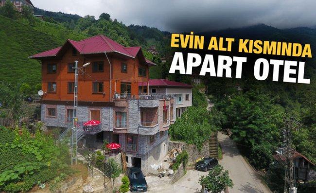 Evinin Altını Apart Turizm Tesisi Yaptı