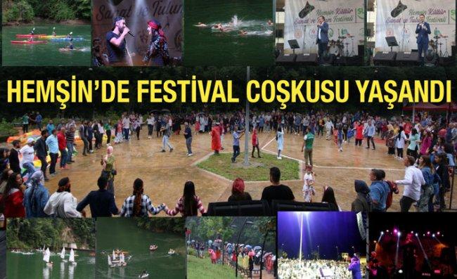 Hemşin Festivali Renkli Görüntüler ile Sona Erdi