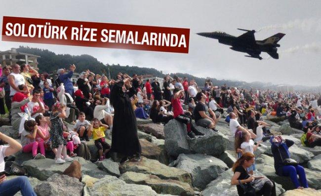Rize'de Nefes Kesen SoloTürk Gösterisi