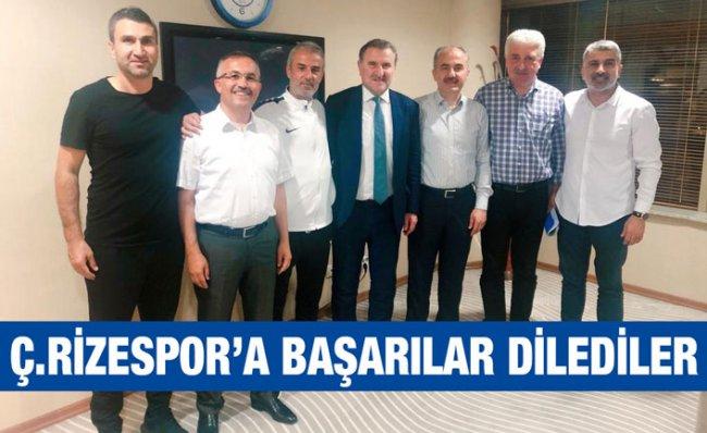Vali Çeber Çaykur Rizespor'u Ziyaret Etti