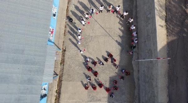 Şavşat'ta Öğrencilerden Mehmetçiğe Selam