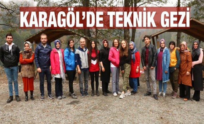 RTEÜ'lü Öğrenciler Karagöl'de Teknik Gezi Yaptı