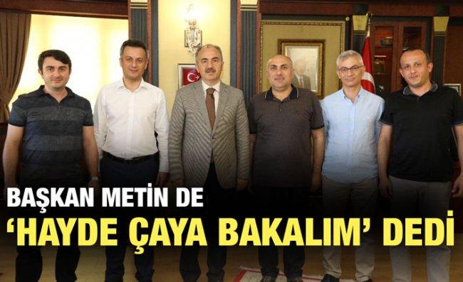Başkan Metin'den Çaykur'un Kampanyasına Destek