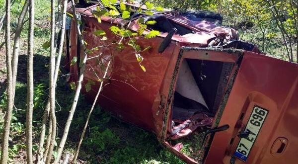 Devrilen Hafif Ticari Aracın Sürücüsü Öldü