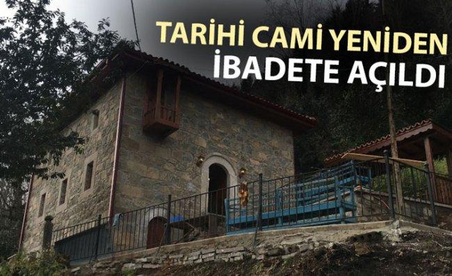 Tarihi Camide Restorasyon Tamamlandı
