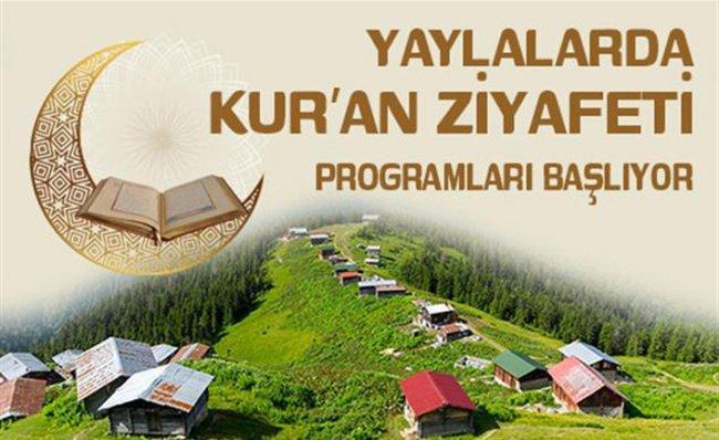 Yaylalarda Kur'an Ziyafeti Sürüyor