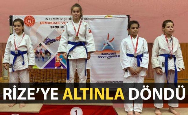 Rizeli Judocudan Altın Madalya