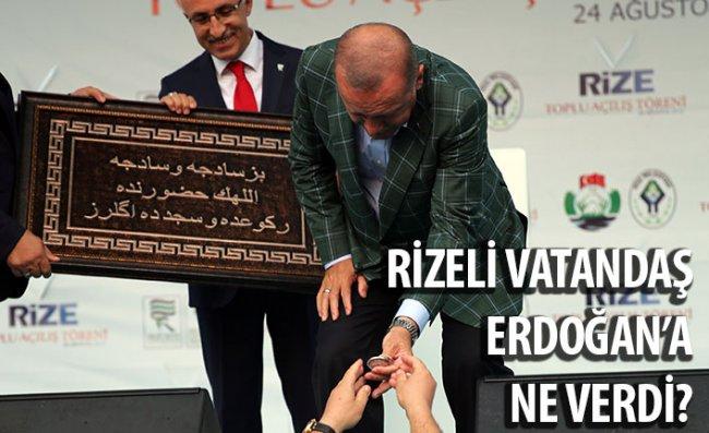 Rizeli Vatandaştan Erdoğan'a Hediye
