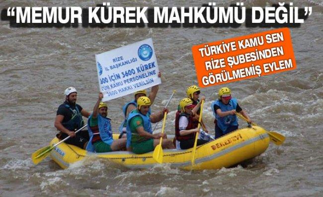 Türkiye Kamu Sen Rize Şubesinden Görülmemiş Eylem