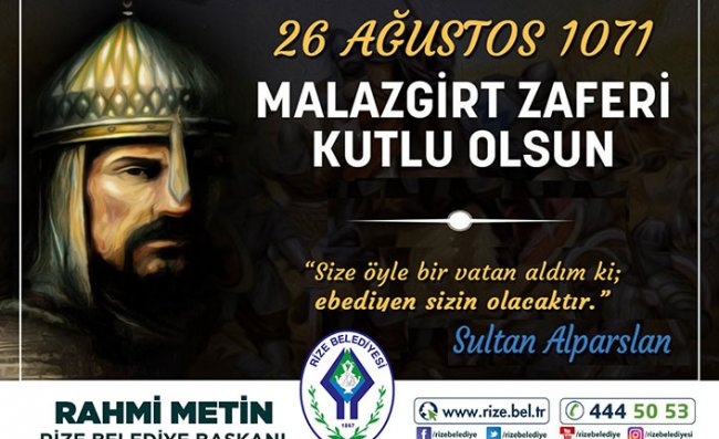 Başkan Metin'den 'Malazgirt Zaferi' Mesajı